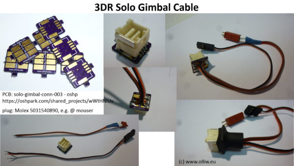 3dr solo gimbal cable olliw