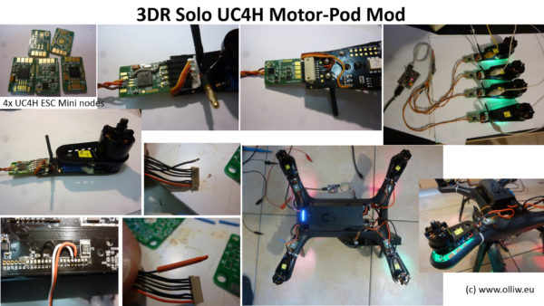 3DR Solo UC4H motopod olliw