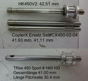 cp450 heckrotorwellen vergleich olliw