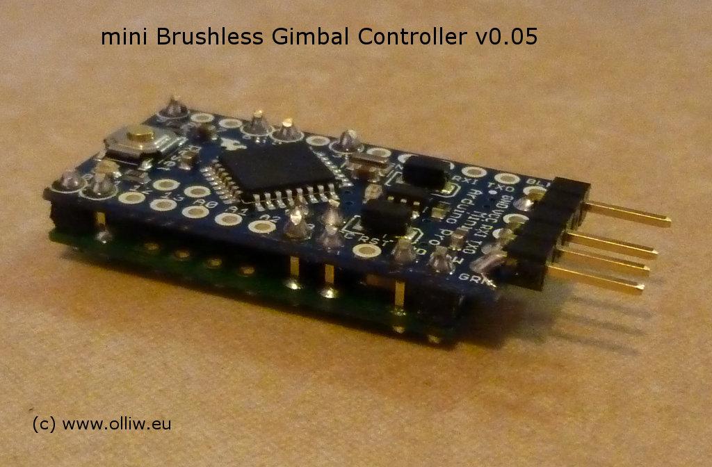 Olliw s bastelseiten mini brushless gimbal controller mbgc