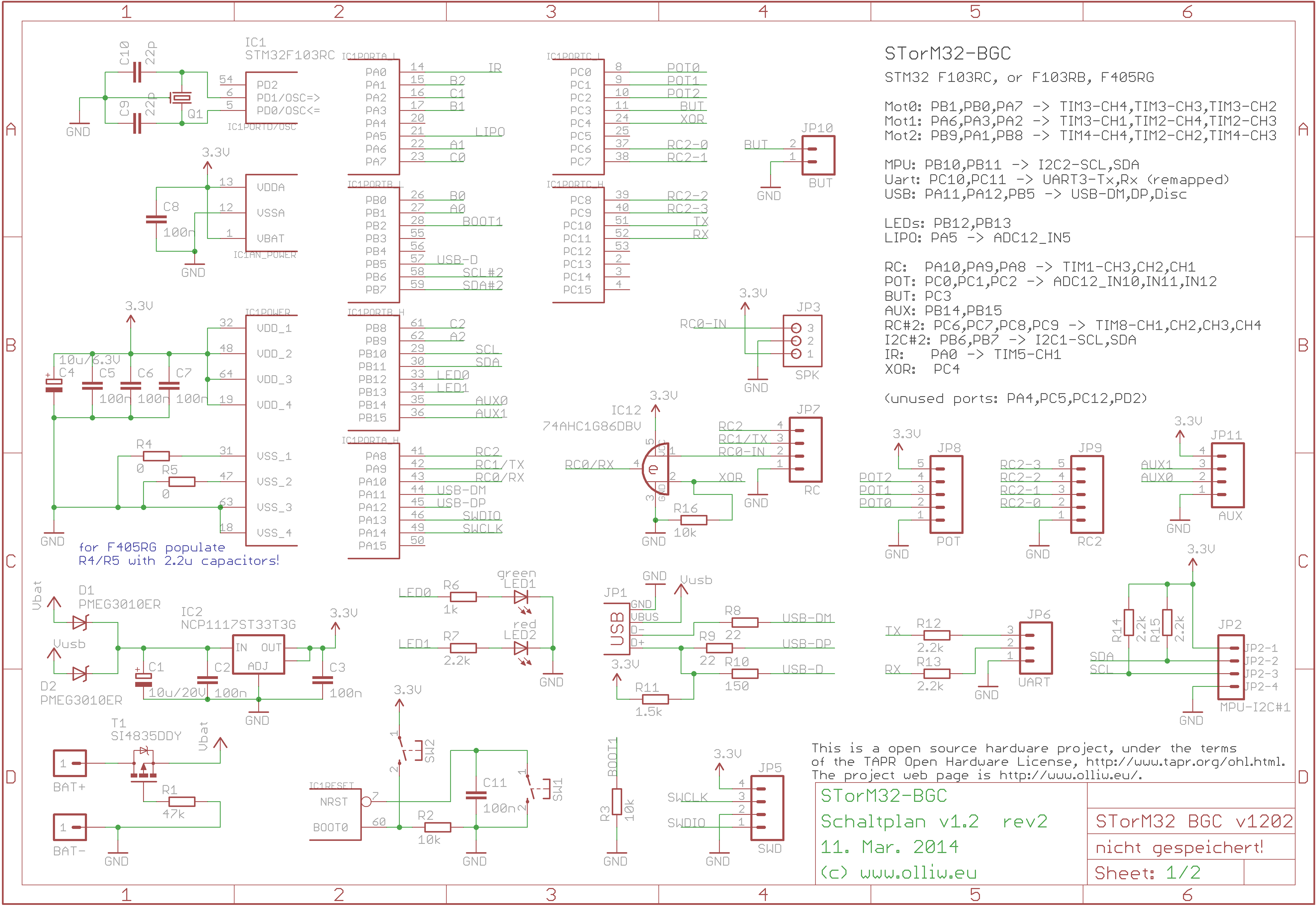 brushless gimbal controller schematic  | olliw.eu