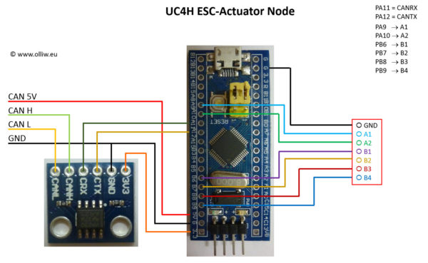 uc4h esc actuator diy build olliw