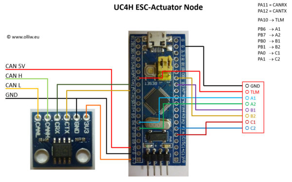 uc4h esc-actuator diy build olliw