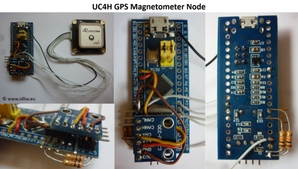 uc4h gps magnetometer diy build v01 olliw
