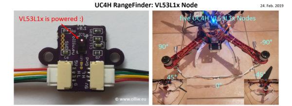 uc4h rangefinder vl53l1x olliw